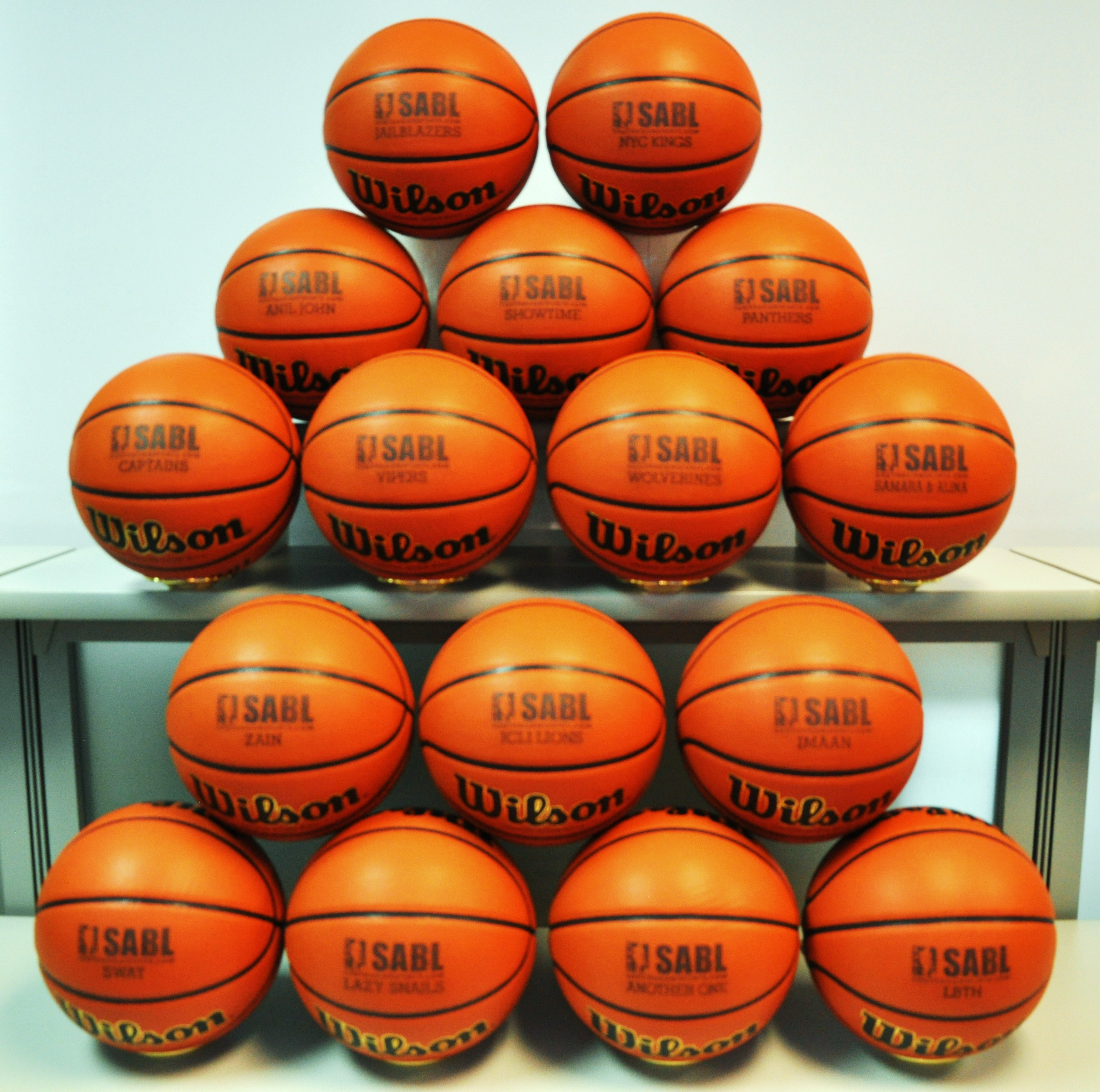 SABL Personalized basketballs